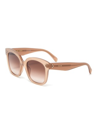 Main View - Click To Enlarge - CELINE - Oversized acetate wayfarer frame sunglasses