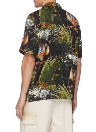 Back View - Click To Enlarge - ENDLESS JOY - Monkey print tencel shirt