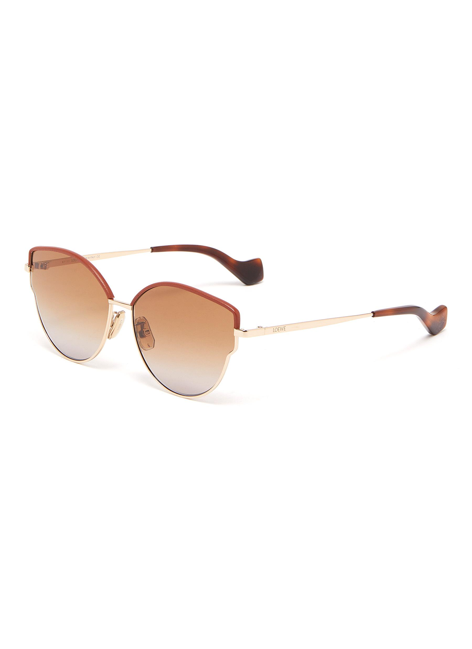 Loewe Sunglasses LEATHER BROWLINE BUTTERFLY SUNGLASSES