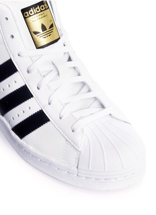 Detail View - Click To Enlarge - Adidas - 'Superstar Up' leather high top sneakers