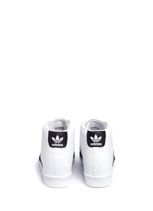 Back View - Click To Enlarge - Adidas - 'Superstar Up' leather high top sneakers
