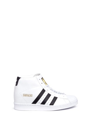 Main View - Click To Enlarge - Adidas - 'Superstar Up' leather high top sneakers