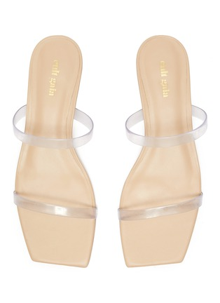 Detail View - Click To Enlarge - CULT GAIA - 'Liz' PVC band bamboo heel sandals
