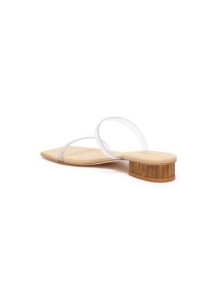 - CULT GAIA - 'Liz' PVC band bamboo heel sandals