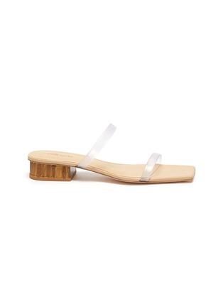 Main View - Click To Enlarge - CULT GAIA - 'Liz' PVC band bamboo heel sandals