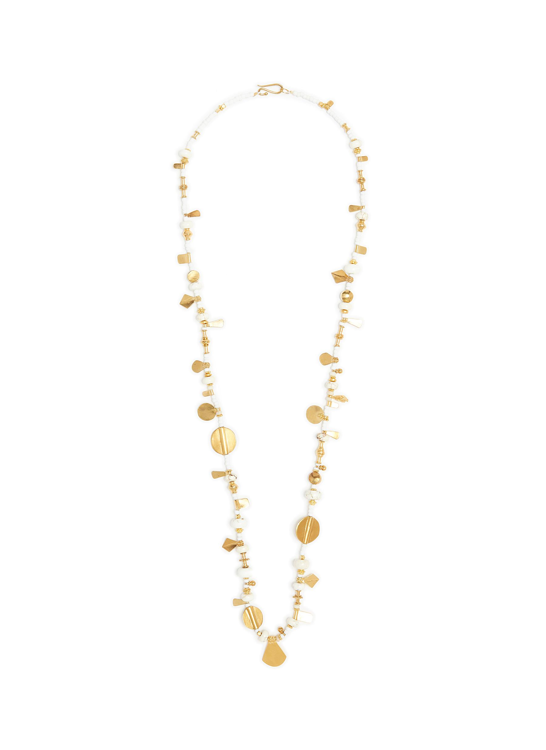 Star Dust' 24k gold plated silver bronze vermeil bead necklace