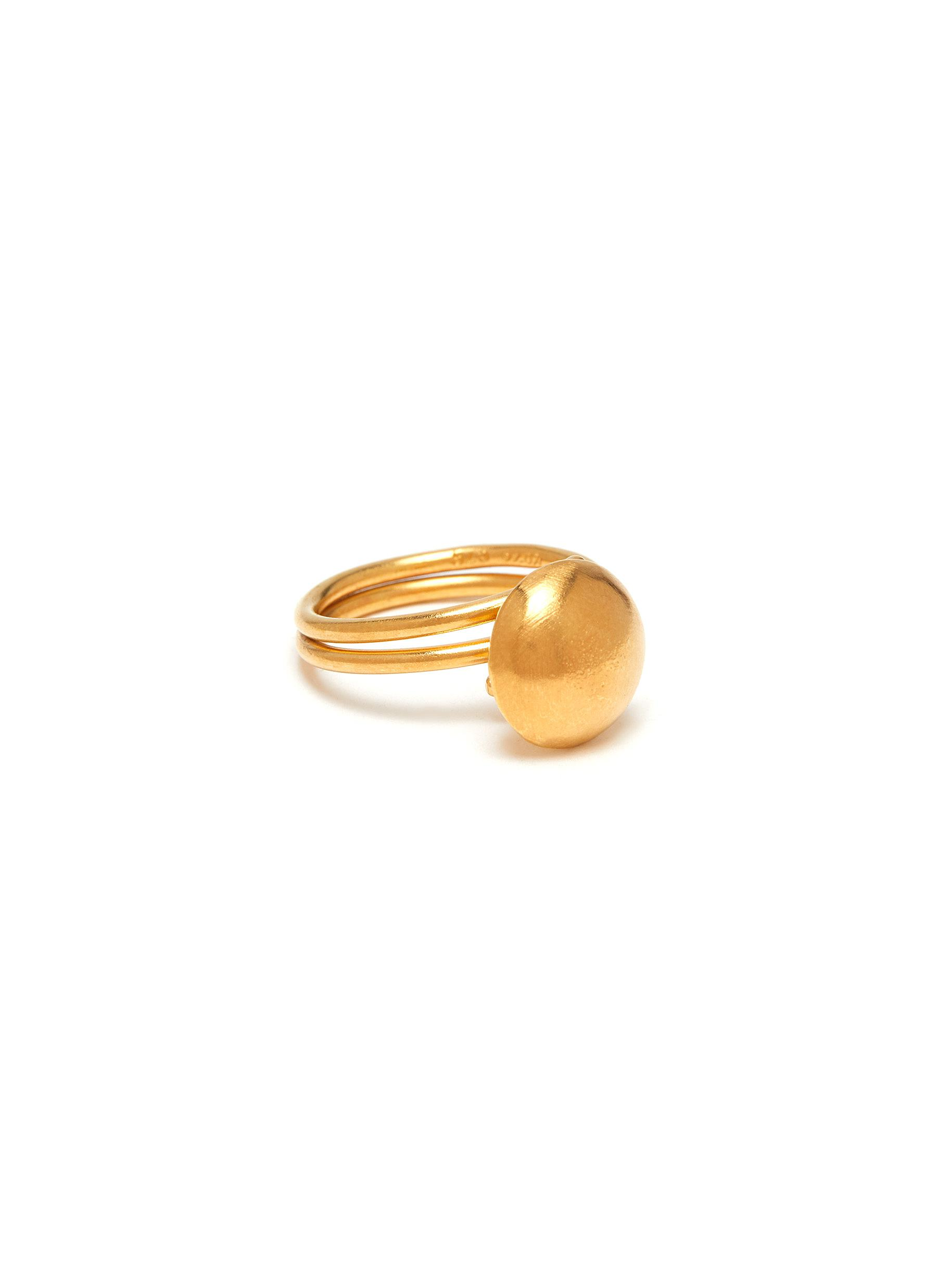 'Small Moon' 24k gold plated silver vermeil ring