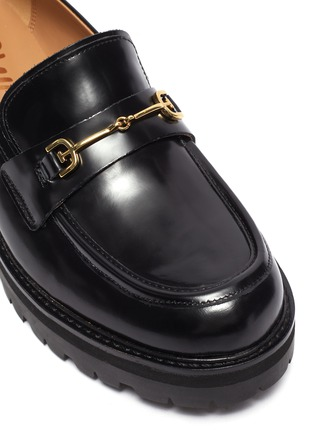 Detail View - Click To Enlarge - SAM EDELMAN - 'Tully' horsebit leather platform loafers