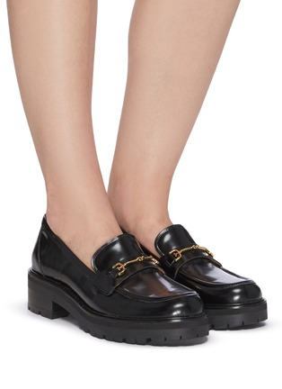 Figure View - Click To Enlarge - SAM EDELMAN - 'Tully' horsebit leather platform loafers