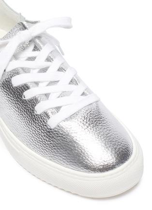 Detail View - Click To Enlarge - SAM EDELMAN - 'Poppy' metallic leather sneakers