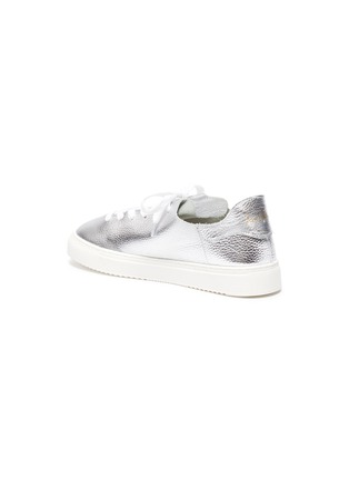 - SAM EDELMAN - 'Poppy' metallic leather sneakers