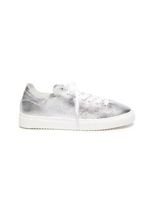 Main View - Click To Enlarge - SAM EDELMAN - 'Poppy' metallic leather sneakers