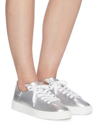 Figure View - Click To Enlarge - SAM EDELMAN - 'Poppy' metallic leather sneakers