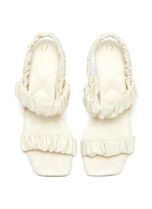 Detail View - Click To Enlarge - SAM EDELMAN - 'Marlena' ruch strap heel sandals