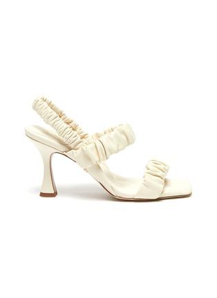 Main View - Click To Enlarge - SAM EDELMAN - 'Marlena' ruch strap heel sandals