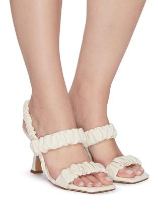 Figure View - Click To Enlarge - SAM EDELMAN - 'Marlena' ruch strap heel sandals