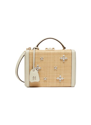 Main View - Click To Enlarge - MARK CROSS - Grace' crystal embellished woven leather box bag