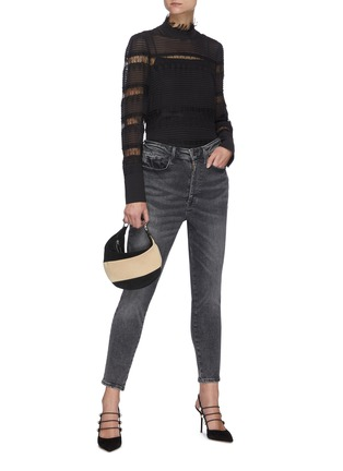 Figure View - Click To Enlarge - FRAME DENIM - Le One' Crop Skinny Jeans