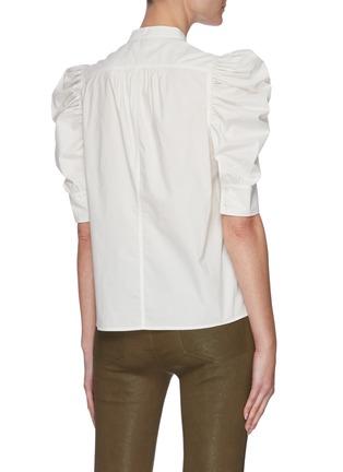 Back View - Click To Enlarge - FRAME DENIM - 'Gillian' puff sleeve poplin top
