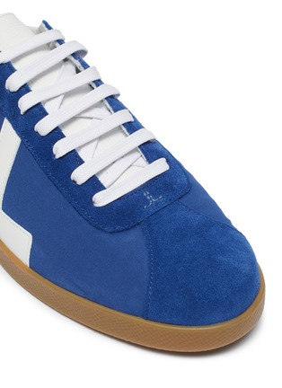 Detail View - Click To Enlarge - LANVIN - 'Glen' Leather Overlay Nylon Low-top Sneakers