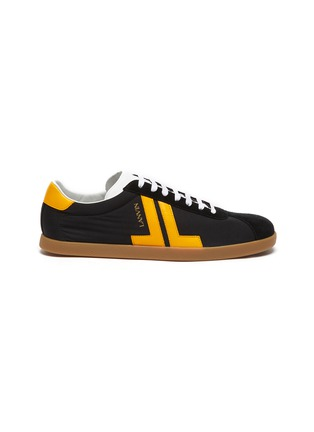 Main View - Click To Enlarge - LANVIN - 'Glen' Leather Overlay Nylon Low-top Sneakers