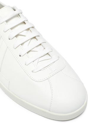 Detail View - Click To Enlarge - LANVIN - 'Glen' Logo Print Low-top Leather Sneakers