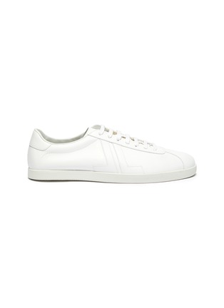 Main View - Click To Enlarge - LANVIN - 'Glen' Logo Print Low-top Leather Sneakers