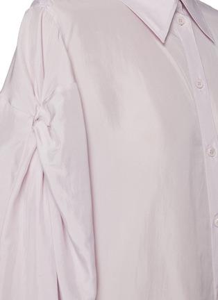 - NINA RICCI - Ruched Sleeve Ribbon Cuff Point Collar Shirt