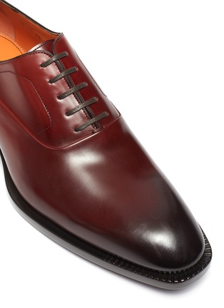 Detail View - Click To Enlarge - SANTONI - Gradient Leather Oxford Shoes