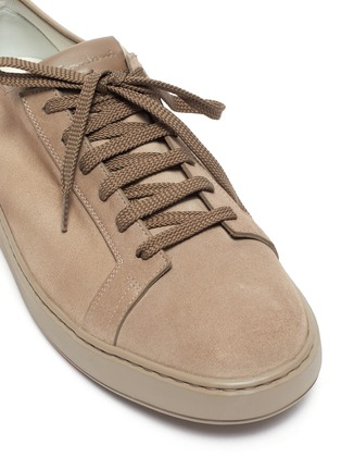 Detail View - Click To Enlarge - SANTONI - Stretch suede sneakers