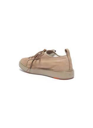 - SANTONI - Stretch suede sneakers
