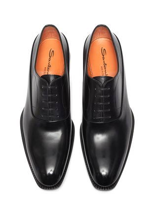 Detail View - Click To Enlarge - SANTONI - Leather Oxford Shoes
