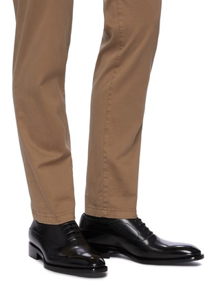 Figure View - Click To Enlarge - SANTONI - Leather Oxford Shoes