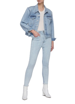 Figure View - Click To Enlarge - RAG & BONE/JEAN - Darted ankle cropped skinny jeans