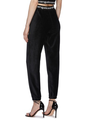 Back View - Click To Enlarge - ALEXANDERWANG.T - Branded Elastic Waistband Corduroy Jogger Pants