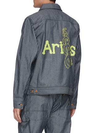 Back View - Click To Enlarge - ARIES - x Lee '191' Zip Front Stripe Denim Jacket