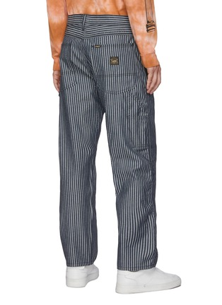 Back View - Click To Enlarge - ARIES - x Lee Jeans striped carpenter pants