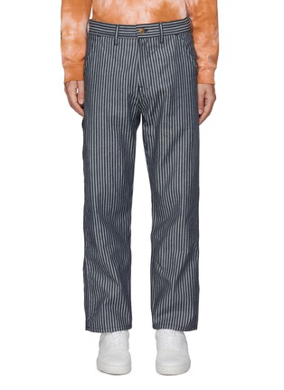 Main View - Click To Enlarge - ARIES - x Lee Jeans striped carpenter pants