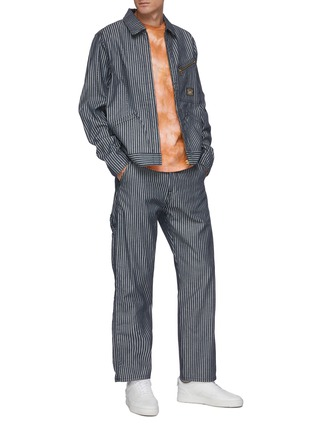 Figure View - Click To Enlarge - ARIES - x Lee Jeans striped carpenter pants