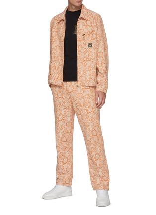 Figure View - Click To Enlarge - ARIES - x Lee Jeans denim floral carpenter pants