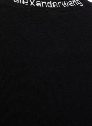 - ALEXANDERWANG.T - Logo jacquard trim crop cardigan