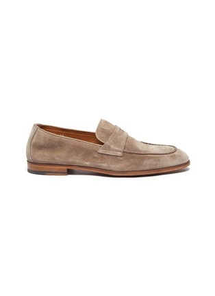 Main View - Click To Enlarge - DOUCAL'S - 'Derek Washed' leather penny loafers