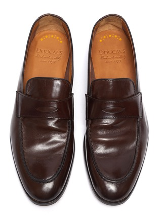 Detail View - Click To Enlarge - DOUCAL'S - 'Derek Polo' leather penny loafers