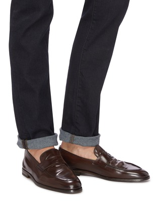 Figure View - Click To Enlarge - DOUCAL'S - 'Derek Polo' leather penny loafers