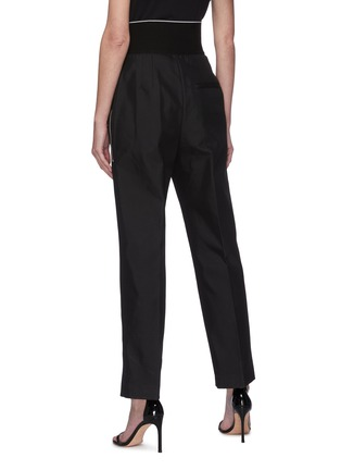 Back View - Click To Enlarge - ALEXANDERWANG - Logo elastic waistband suiting pants