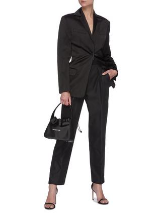 Figure View - Click To Enlarge - ALEXANDERWANG - Logo elastic waistband suiting pants