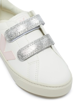 Detail View - Click To Enlarge - VEJA - Small Esplar' double velcro kids leather sneakers