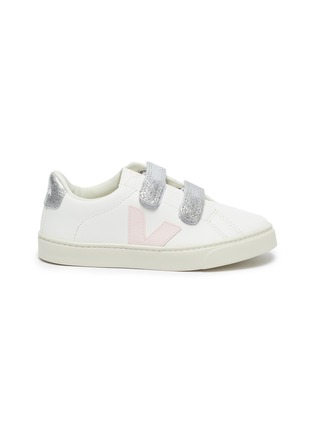 Main View - Click To Enlarge - VEJA - Small Esplar' double velcro kids leather sneakers