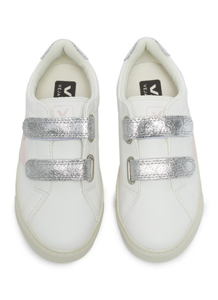 Figure View - Click To Enlarge - VEJA - Small Esplar' double velcro kids leather sneakers