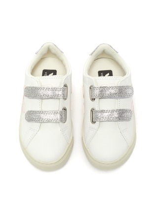 Figure View - Click To Enlarge - VEJA - Small Esplar' double velcro toddler leather sneakers